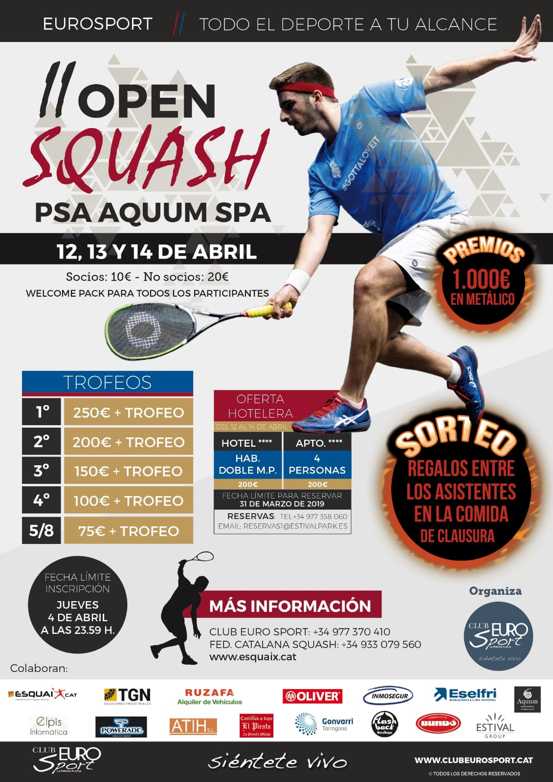 II Open Squash PSA AQUUM SPA abril 2019
